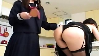 Asian Mom Spanked hard by Dominant Schoolgirl
