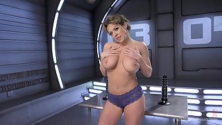 Pulchritudinous Dee Williams masturbates with the help her fingers with the addition of making love toys