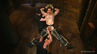 Males share the room for wild BDSM threesome in cheerful XXX