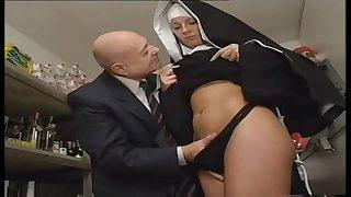 Nun And A Exploitative Padre - Hot Porn Scene