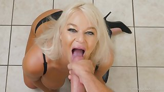 Busty MILF London Brooklet engages around a hot encounter around the Nautical galley