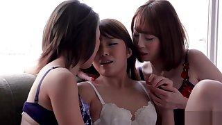 AYA KISAKI & SHINO AOI & AYUMI KUROKI - Trine INTENSE KISSING With the addition of SEX