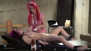 Needy women in strong roleplay BDSM cam sex
