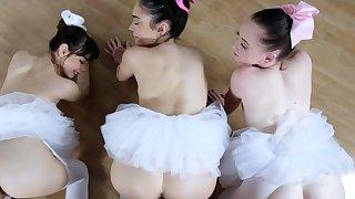 Two college girls Ballerinas
