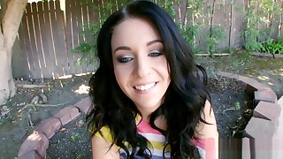 Sexual brunette floozy madelyn monroe gets screwed hardcore