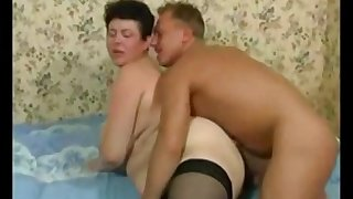 Short-Haired Raunchy Mother Fucks Young Neighbor