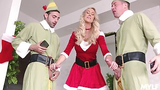 Brandi Love looks so hot anon celebrating Christmas with a hot threeway