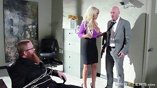 Bigwig wide a huge go for a walk persuaded blonde secretary for sex - Bridgette