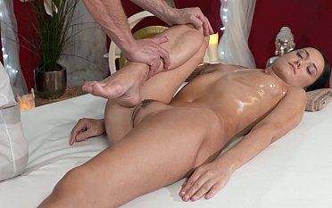 Rubbing pussy on the top of a cock